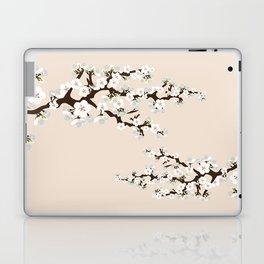 Japanese Sakura Cherry Blossoms (ivory/white) Laptop & iPad Skin