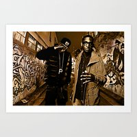 wiz khalifa Art Prints featuring Wiz & Tempah by D77 The DigArtisT