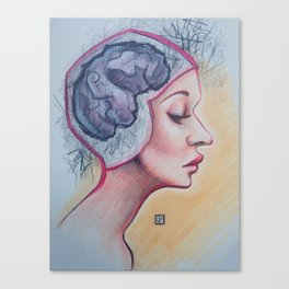 Brain Cramp Canvas Print