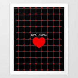 Sparkling Heart Art Print