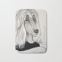 Arlie with coffee Bath Mat