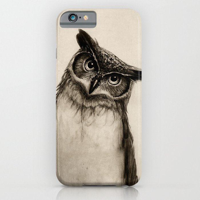 owl sketch iphone case