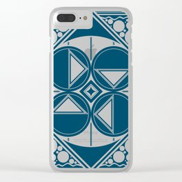 Dar Forma - Blue Clear iPhone Case