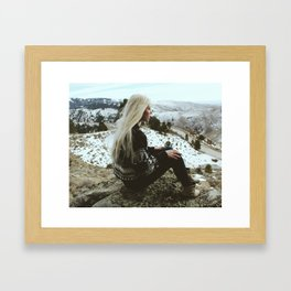 BREATH OF FRESH AIR Framed Art Print