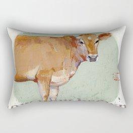 jersey cow Rectangular Pillow
