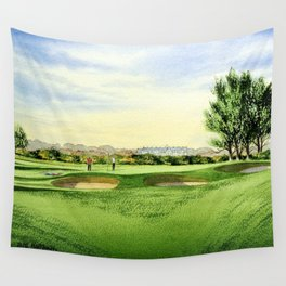 Carnoustie Golf Course Scotland 13th Green Wall Tapestry