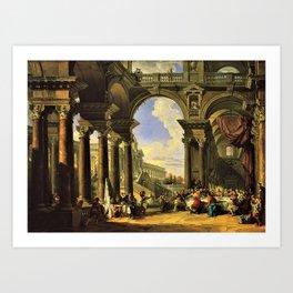 Giovanni Paolo Panini's Masterpiece: The Wedding at Cana, circa 1725 Art Print