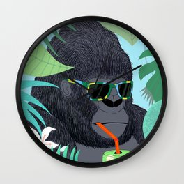 Gorilla Summer Wall Clock