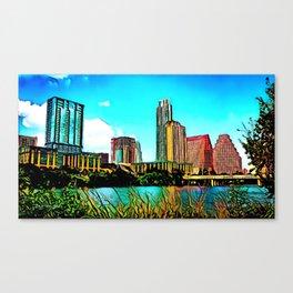 Austin, Texas - 2010 - Graphic 2 Canvas Print