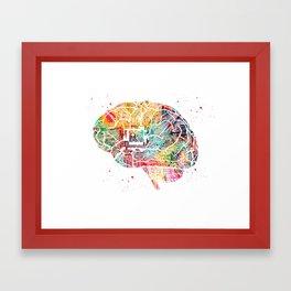 Circuit Brain Framed Art Print