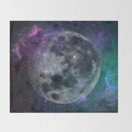 Fading Moon Throw Blanket