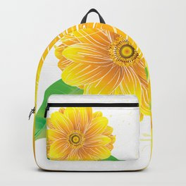 Helianthus - The Color of Vitality, Intelligence and Happiness Backpack