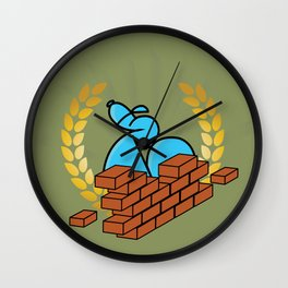 Building Bricks with Endso Wall Clock