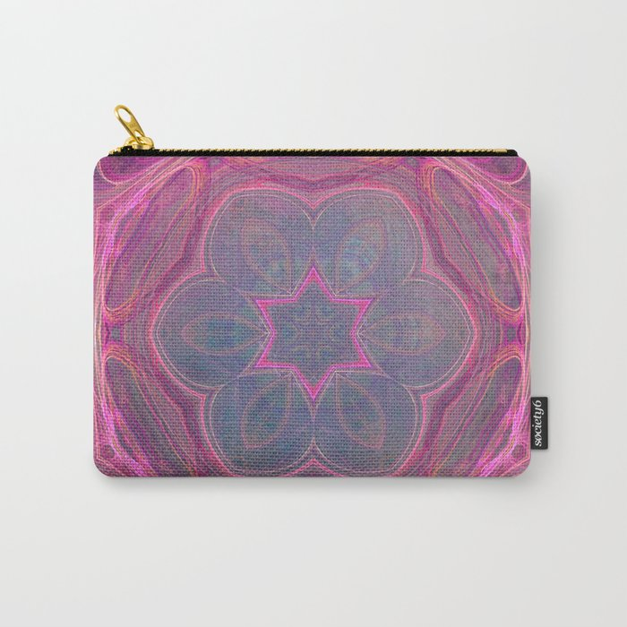 whimsical fractal love in pink Carry-All Pouch