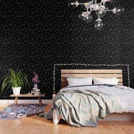 Black wildflowers Wallpaper