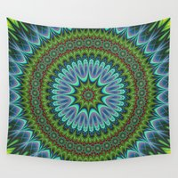 mandala Wall Tapestries featuring Mandala by David Zydd