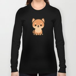 Cute shiba inu Long Sleeve T-shirt