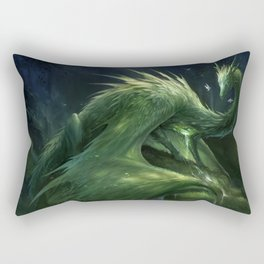 Green Crystal Dragon Rectangular Pillow