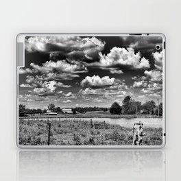 gray scale farmland Laptop & iPad Skin