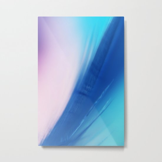 Feather Blue Metal Print