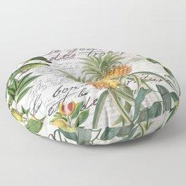 Tropical Fruit Illustration Vintage Style Floor Pillow
