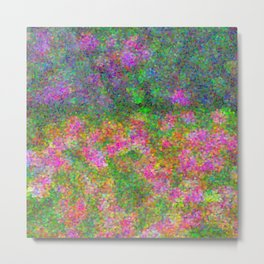 Meadow Pattern With Flowers Metal Print