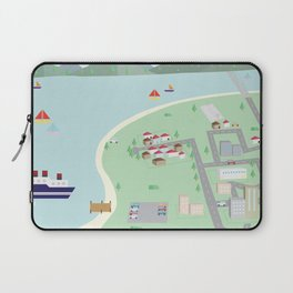 Paper Village Laptop Sleeve