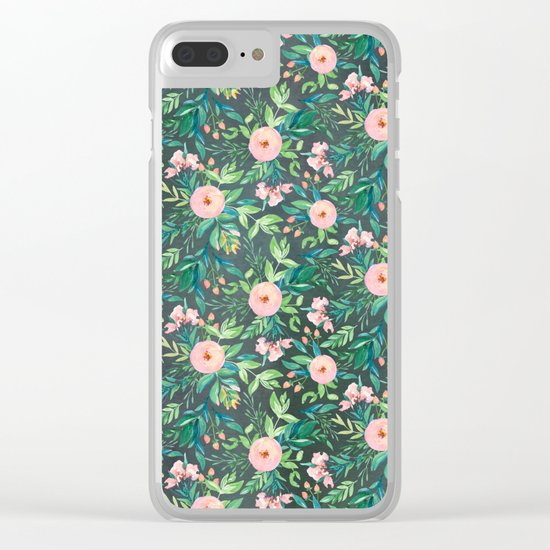 The Night Meadow Pattern Clear iPhone Case