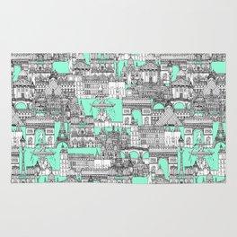 Paris toile aquamarine Rug
