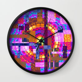 Patchwork Carnaval  Wall Clock