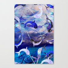 Ocean narwhal  Canvas Print