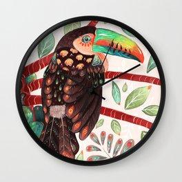 Toucan In A Fruit Tree Wall Clock