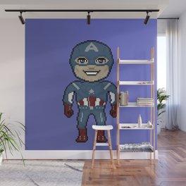 Pixelated Heroes Capt. America Super Hero Wall Mural