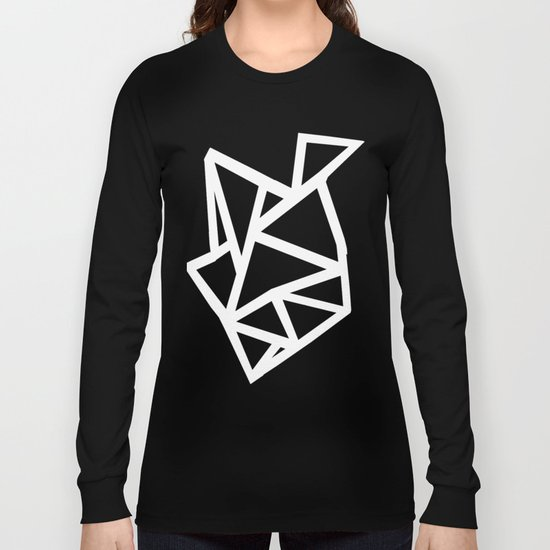 Ab Outline Thicker Black Long Sleeve T-shirt