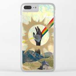 Reaching to Enlightenment Clear iPhone Case