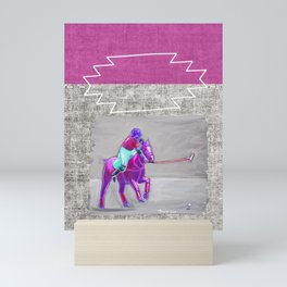poloplayer grey-mauve Mini Art Print