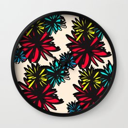 flo(W)ral Wall Clock