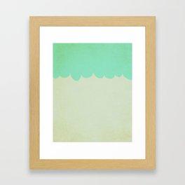 A Single Aqua Scallop Framed Art Print