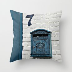 Letterbox at No. 7 Throw Pillow