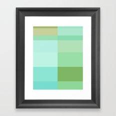 Blue To Green Framed Art Print