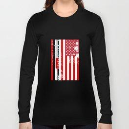 Nurse Doctor RN American Flag USA Long Sleeve T-shirt