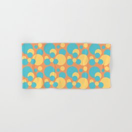 Blue and Yellow Circle Pattern Hand & Bath Towel