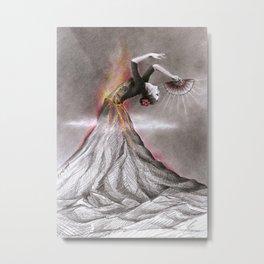 Dancing Volcano Metal Print