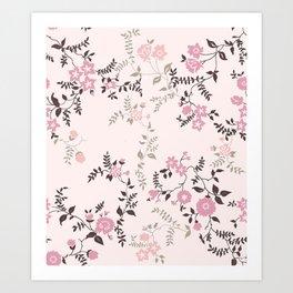 Pink Floral Art Print