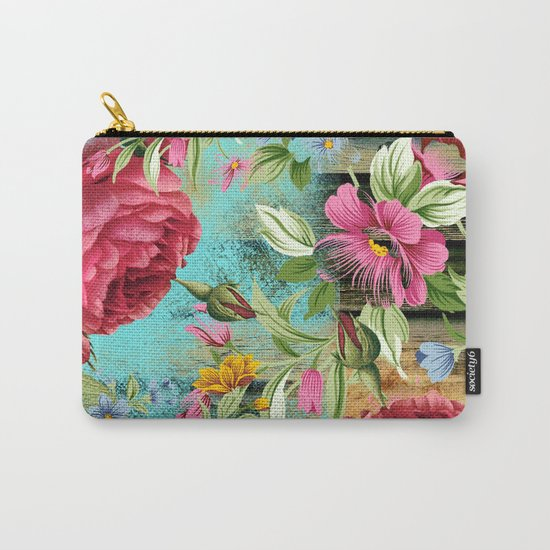 Vintage flowers #11 Carry-All Pouch