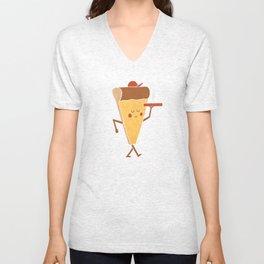Pizza Delivery Unisex V-Neck