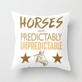 Unpredictable Horse Throw Pillow