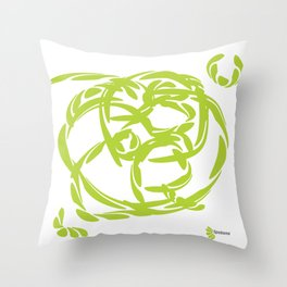 BRILLIANT GREEN: bank on your emotional intelligence Throw Pillow