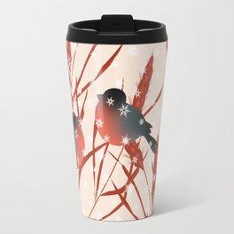 Winter pattern with bullfinches. Travel Mug
