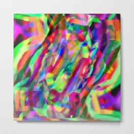 Colorful Creation Metal Print